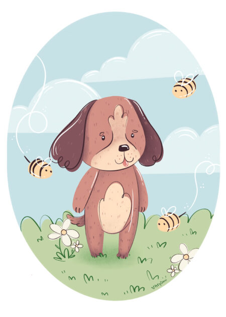 Busy Bee Puppy by Dani Ammons