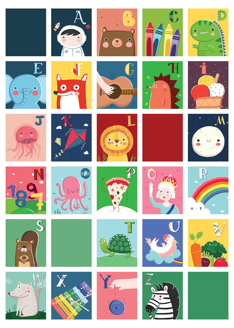 """ABC poster """"A is for astronaut"""" by Ilaria Ranauro"""