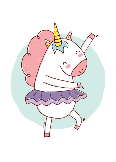 Just Dance unicorn poster by Ilaria Ranauro
